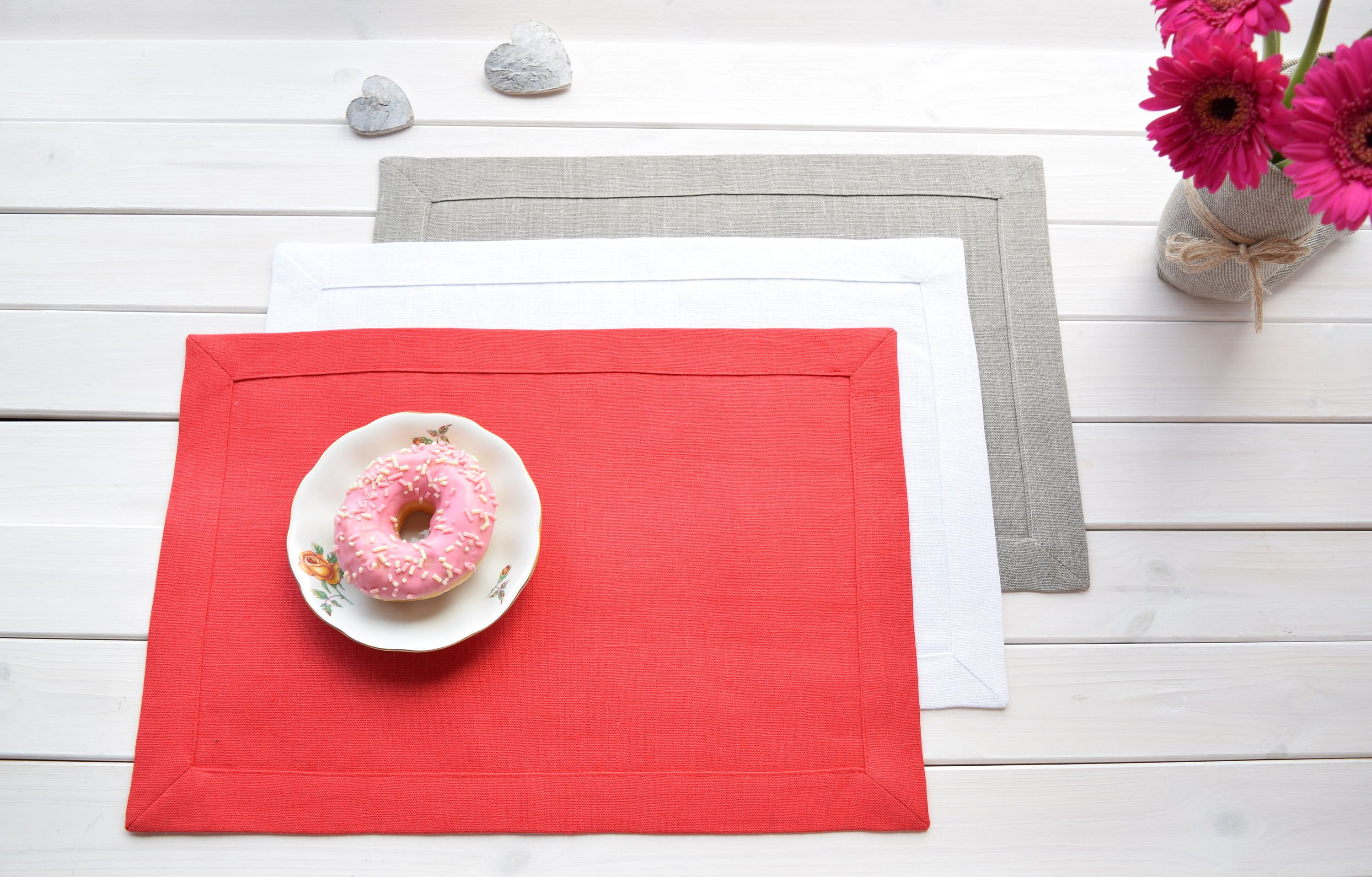 Linen Placemats Fabric Placemats Dining Table Mats Etsy Linen Placemats Fabric Placemats Placemats