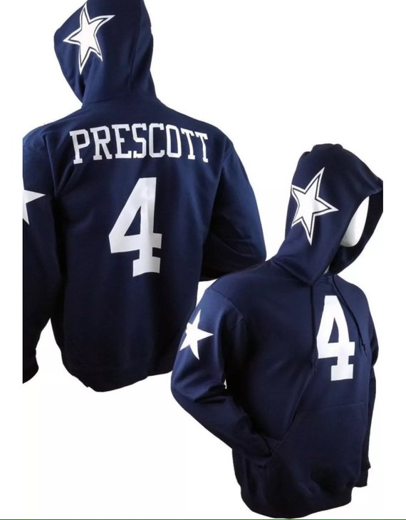 buy popular 9eb53 e27ac Dallas cowboys elliott 21 jersey style hood sweatshirts or ...