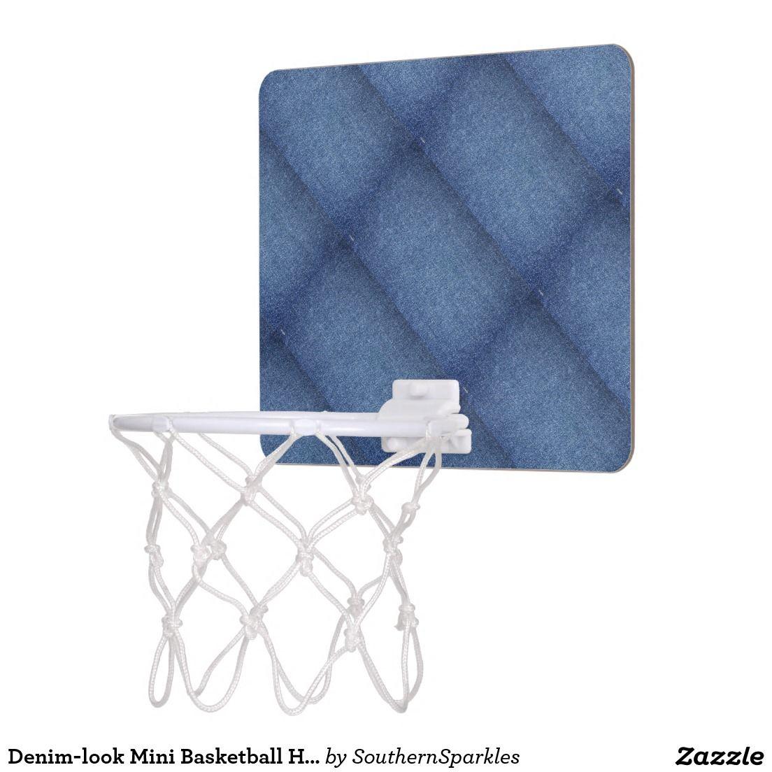 Denim-look Mini Basketball Hoop