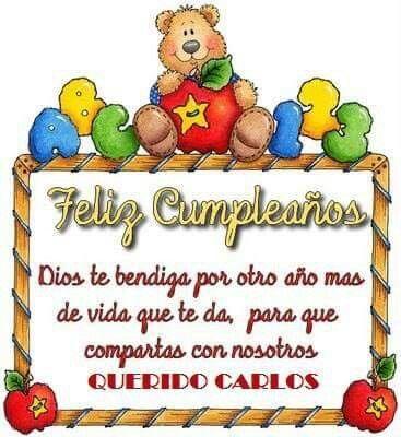 Felicidades Carlos Tarjeta De Cumpleaños Cristianas