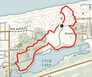 West Beach Loop with Scallop Dunes and Long Lake is a 3.5 mile lightly trafficked loop trail located near Portage, IN that features beautiful wild flowers and is rated as moderate. The trail offers a number of activity options and is accessible year-round.