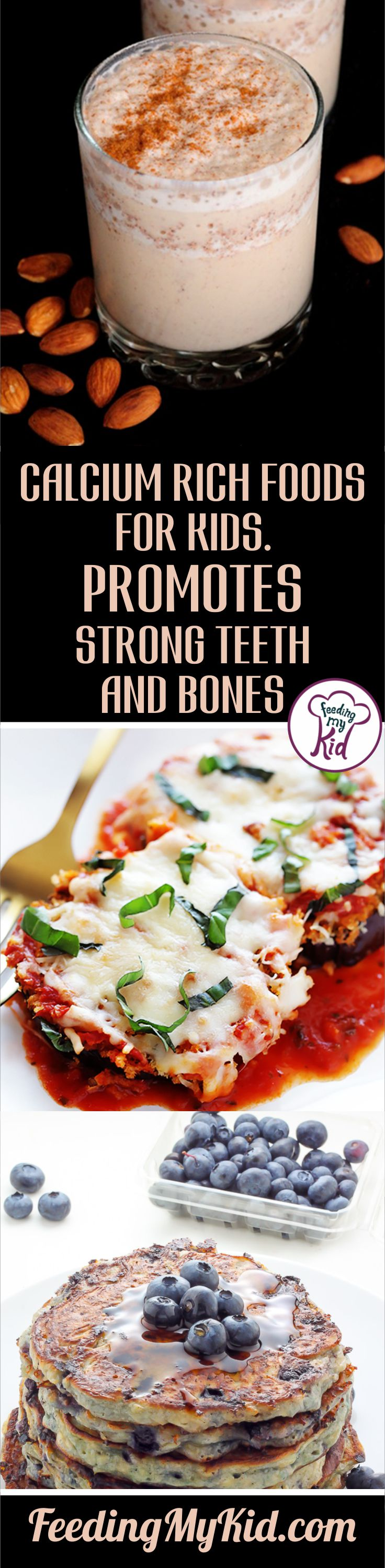 Calcium Rich Foods for Kids. Promotes Strong Teeth and