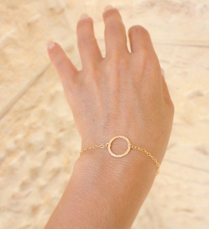 Karma bracelet friendship bracelet gold bracelet Circle Bracelet minimalist gold bracelet tiny circle bracelet dainty gold bracelet