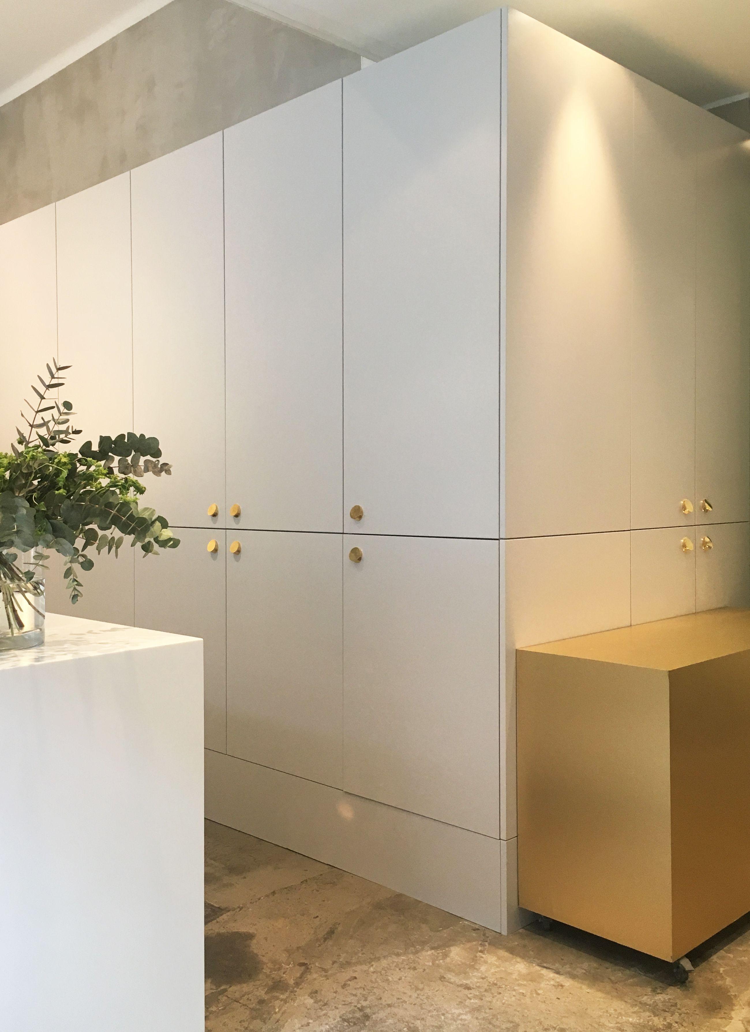 PR Agency Milttonu0027s Showroom. A.S.Helsingö Kitchen Built On IKEA Cabinet  Frames.