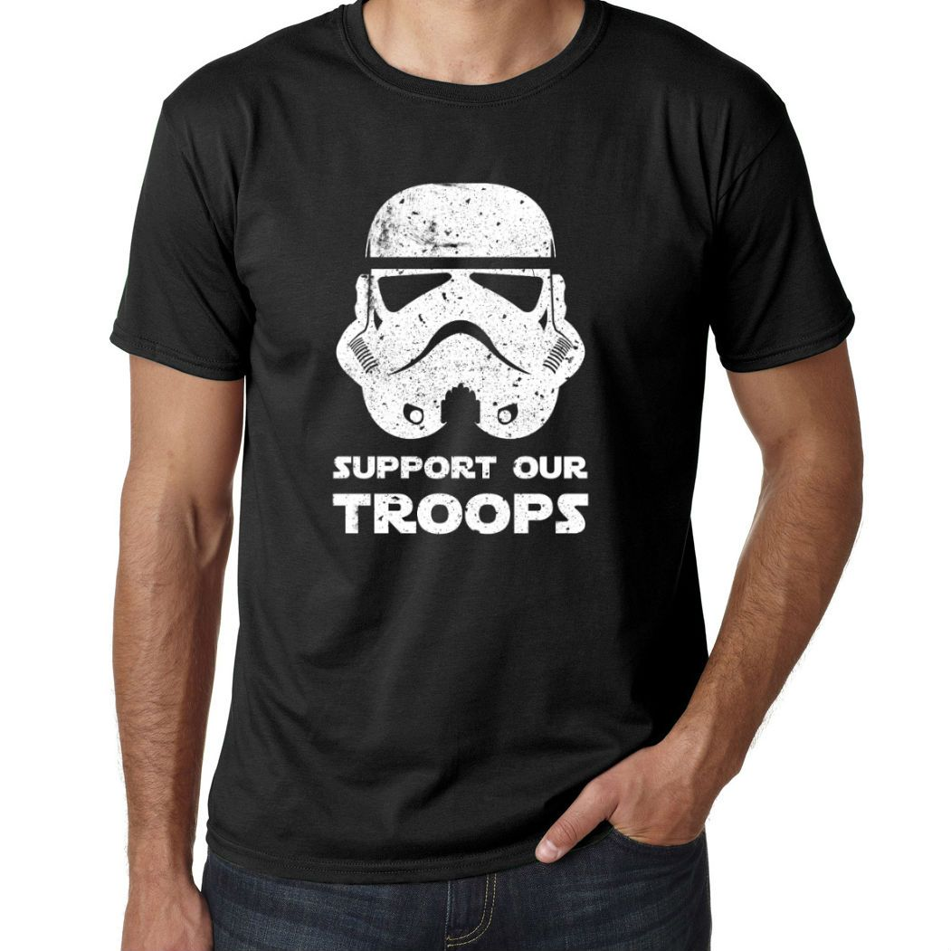 Star Wars StormTroopers Open Doors Body Print Two-Sided T-Shirt NEW UNWORN