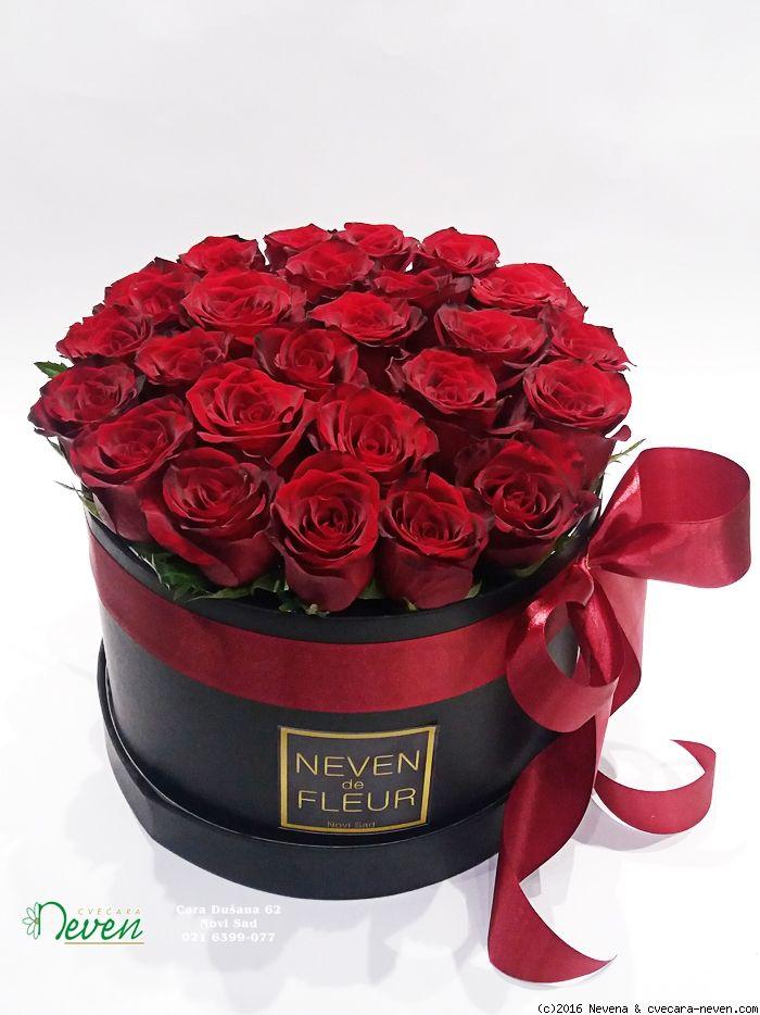 Roses In Box Ruže U Kutiji Flower Gifts Pinterest