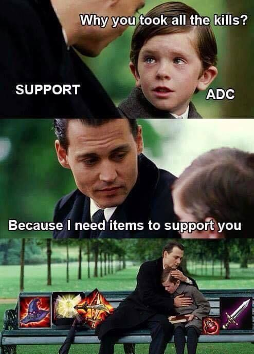 Support and adc in league of legends