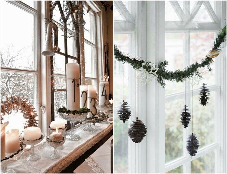 36 sch n deko ideen gro e fenster gem tliche weihnachten. Black Bedroom Furniture Sets. Home Design Ideas