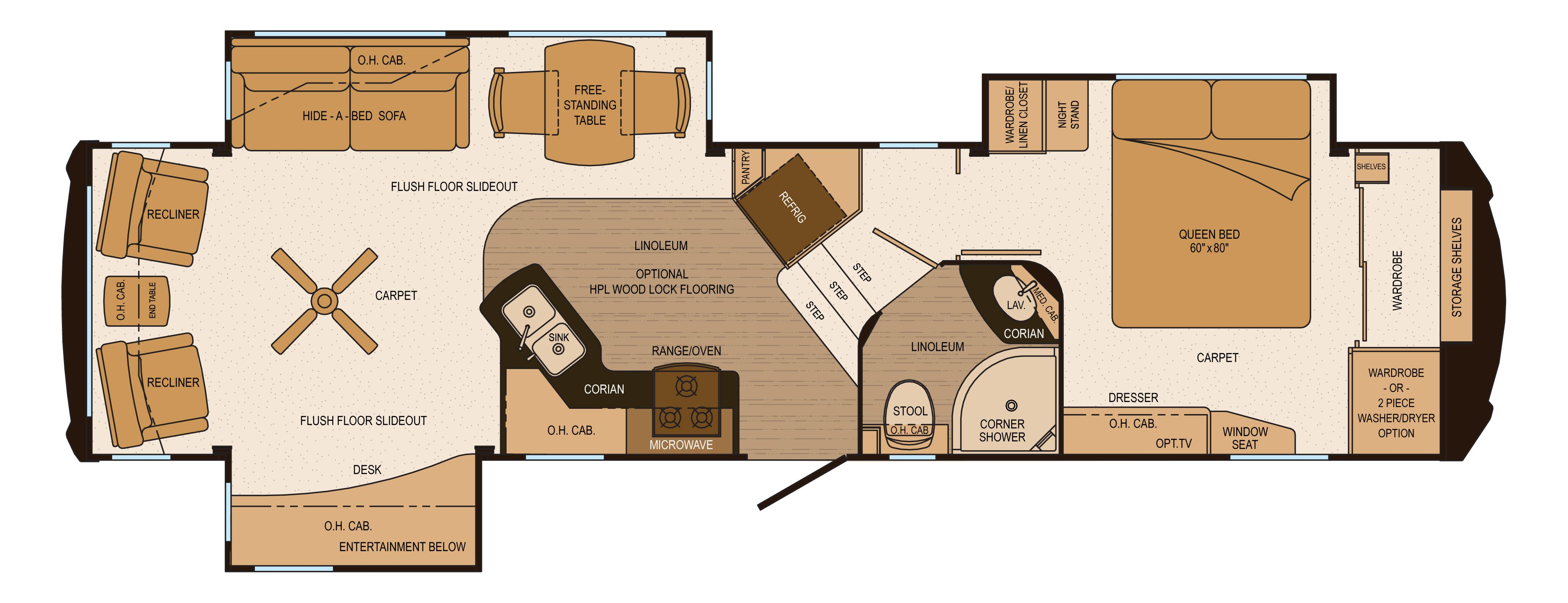 Build your own rv floor plan thefloors co for Grand design floor plans