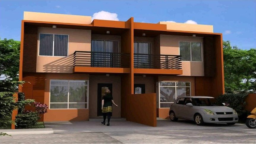Boarding House Blue Print Philippines Duplex House Design Philippines House Design House Designs Exterior