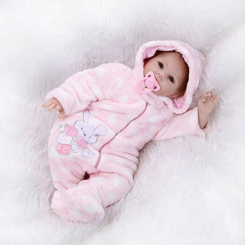 Cheap 22   de Silicona Muñecas Reborn Bebés Bebés Realistas muñeca Bebé  Recién Nacido Realista de Silicona Mejor Regalo para Las Niñas 7f2414ca6fea