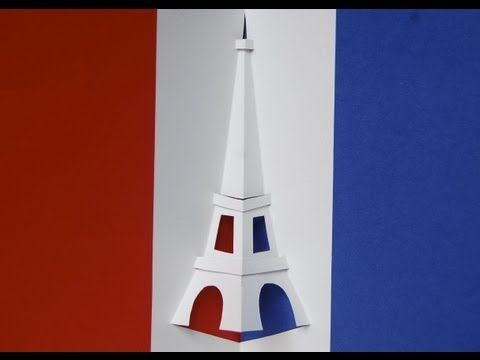 This Eiffel Tower Pop Up Card Is Symmetrical So It Is Very Easy To Make Download The Template To Make Your Ow Pop Up Card Templates Eiffel Tower Pop Up Cards