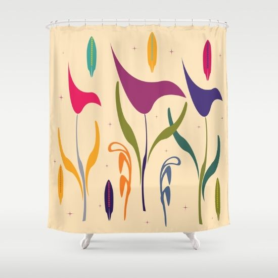 Bright Calla Lily Watercolor Impression Shower Curtain Buy Now 5780