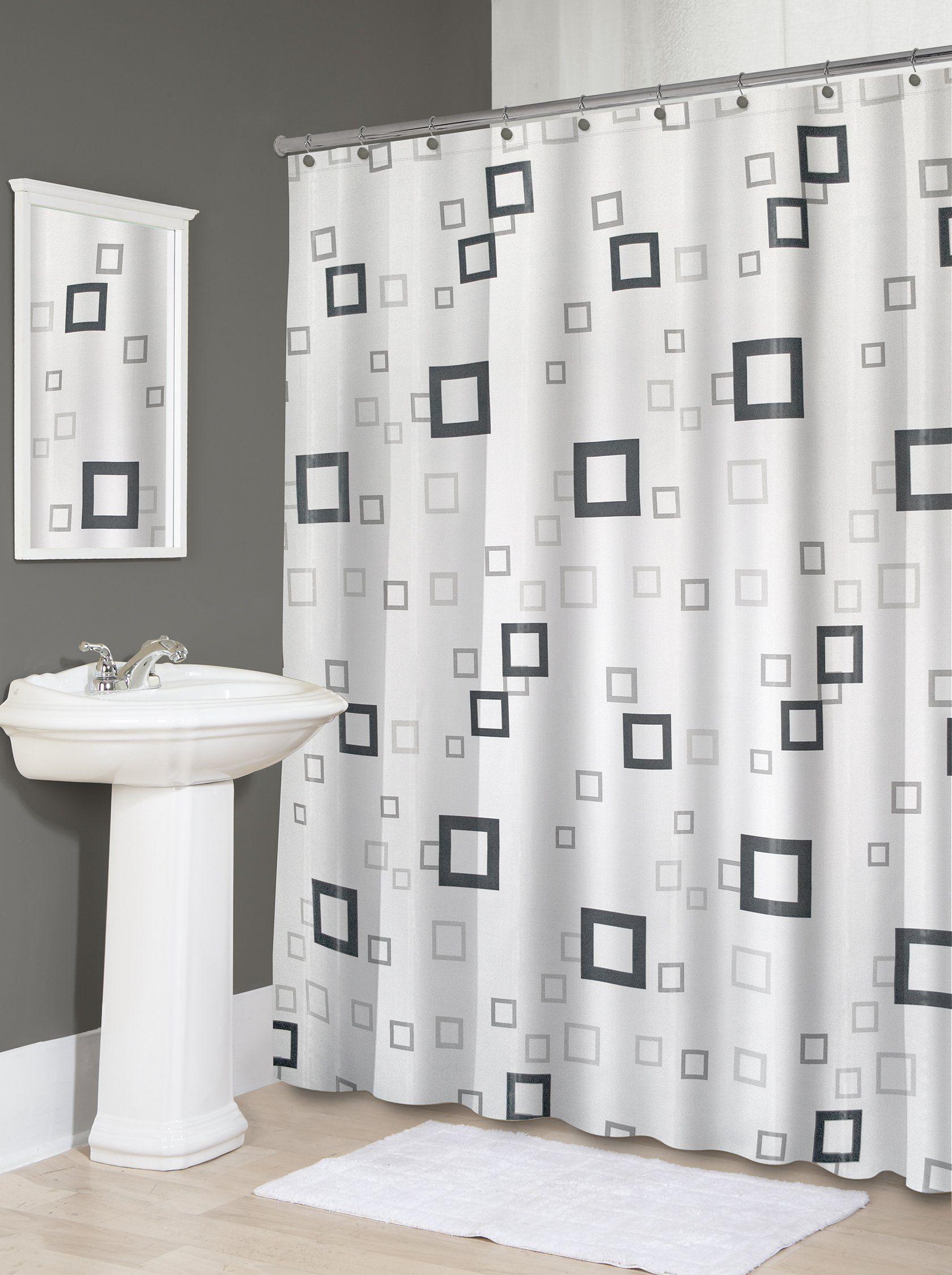 Amazon Com Splash Home Shower Curtain 70 By 72 Inch Freeze
