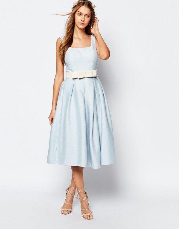 robe mi longue bleu ciel les robes sont populaires partout dans le monde. Black Bedroom Furniture Sets. Home Design Ideas