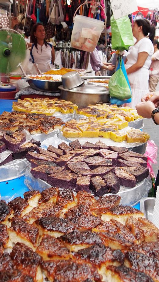 Ricecake and other local delicacies sold cheap in Quiapo