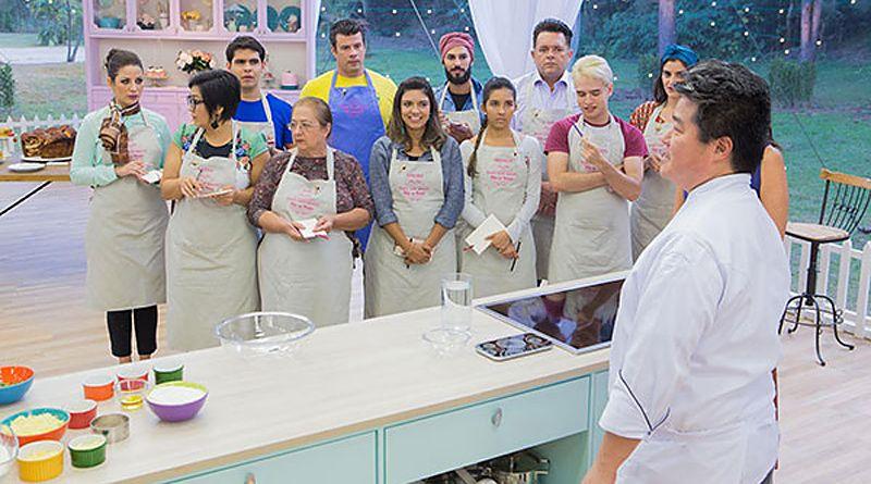 Competidores Do Bake Off Brasil Tem Aula Com O Chef Rogerio Shimura Batalha Dos Confeiteiros Cozinheiros Em Acao E Aulas