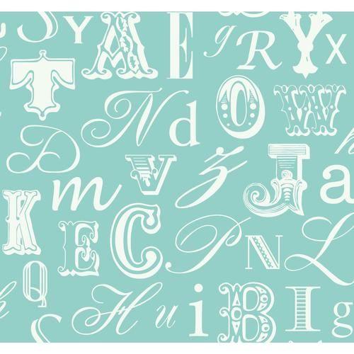 York Wallcoverings Peek-A-Boo Word Play Wallpaper