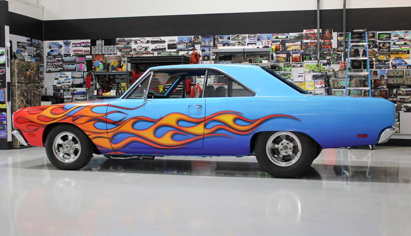 Classic Car With Flames Gloss Vinyl Cars Pinterest Cars