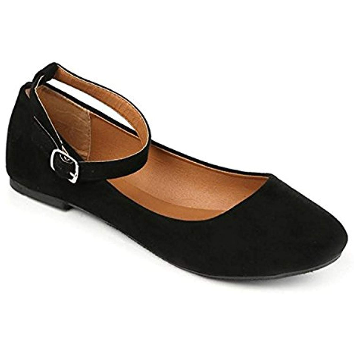 Womens Flats Jersey Soft And Faux Vegan Leather Comfortable Basic Canvas Slip On Ballet Shoes Dress