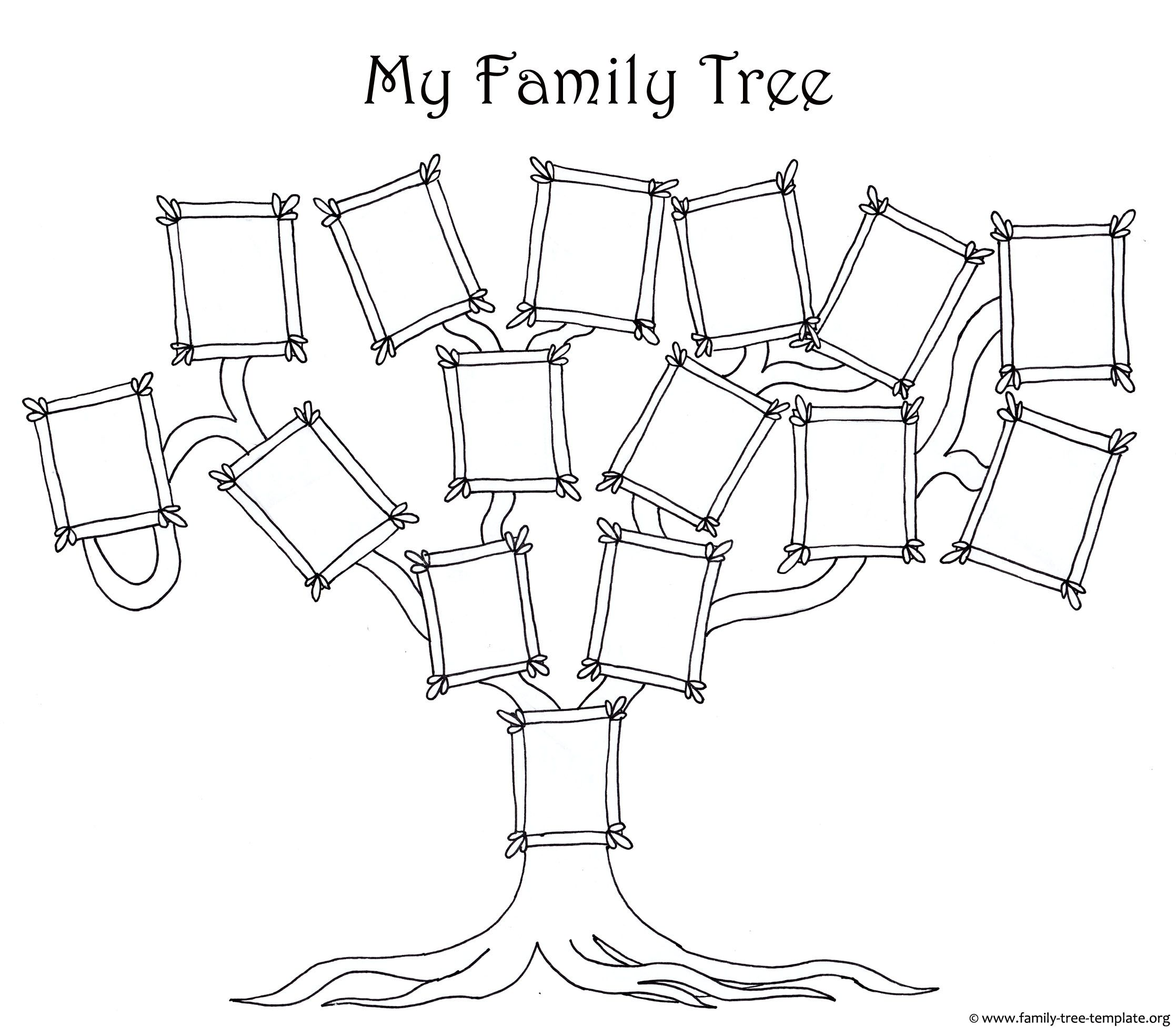 Coloring Page For Kids A Simple Fun Family Tree Chart With