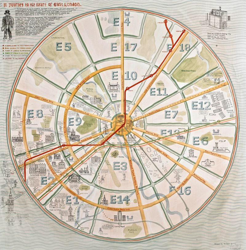 adam dants map of east london commissioned by the museum of london docklands