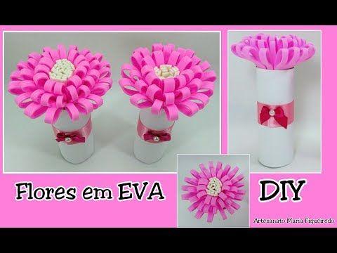 Flor Em Eva Facil Decoracao Com Rolos De Papel Higienico Passo