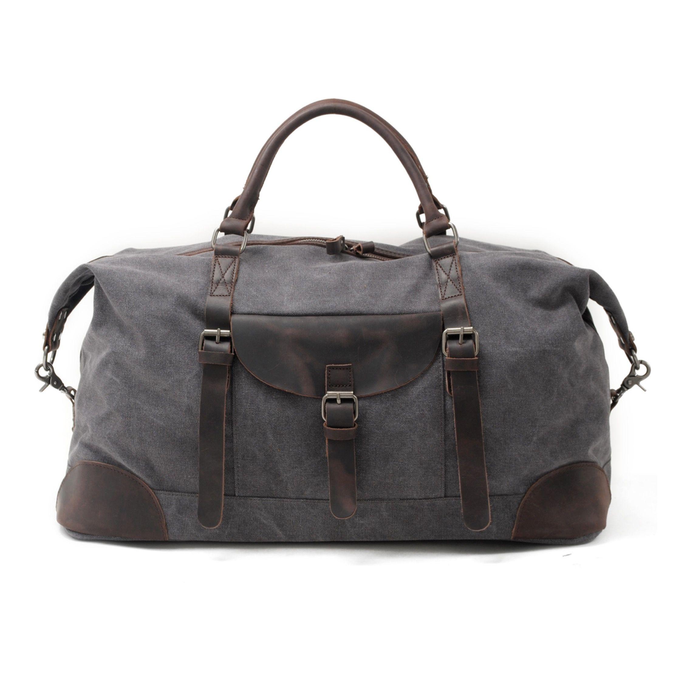 Dokota Bag Luggage Travel Duffle Men Gym Leather Tote Shoulder Weekend Handbag