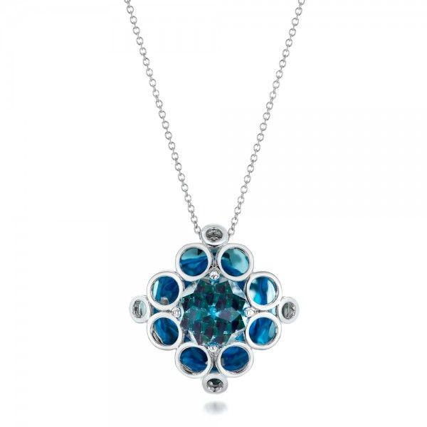 #101975 Galatea Jewelry by Artist is available at Joseph Jewelry.    This beautiful pendant showcases Galatea's Davinchi Cut setting.