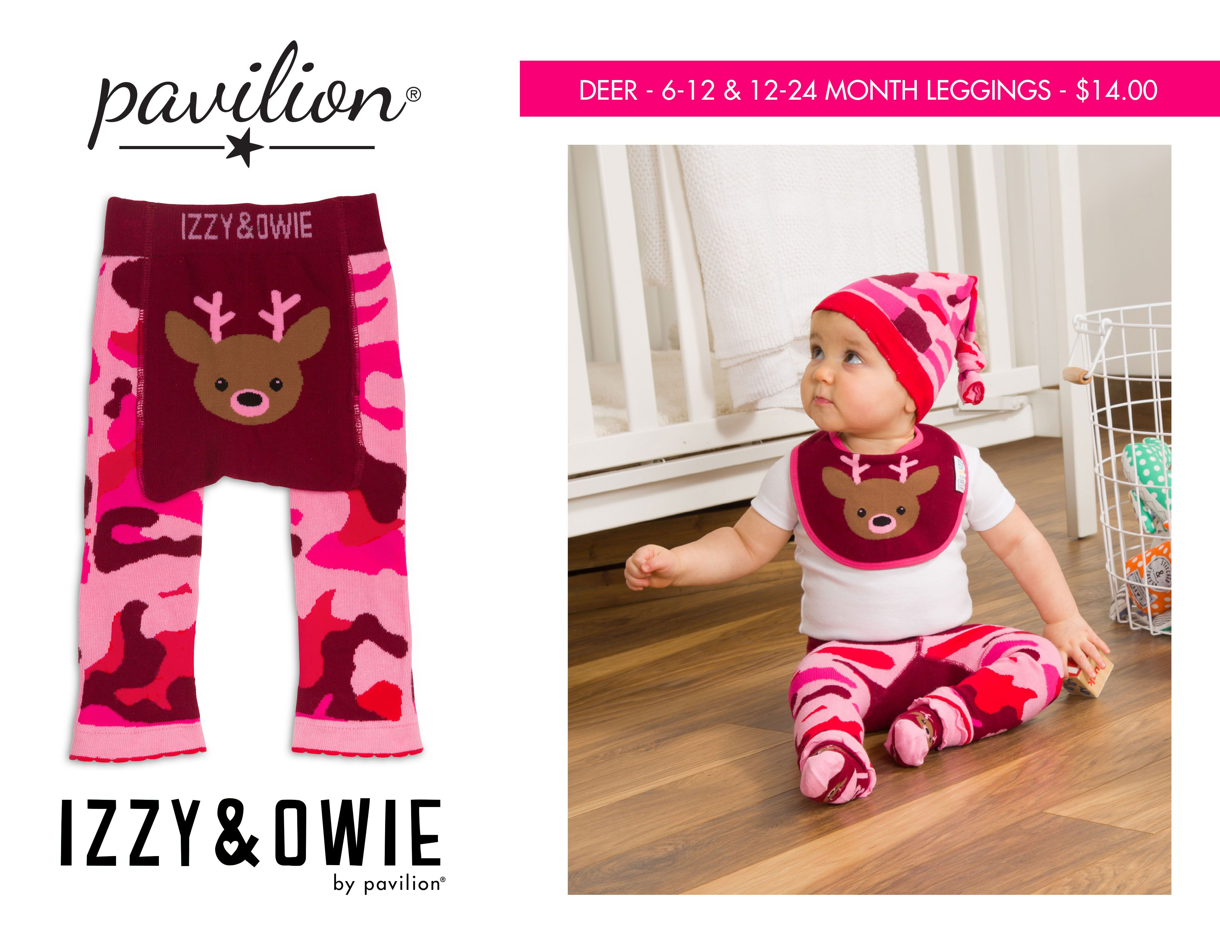 7be9fa35a Pavilion - Izzy & Owie - Pink Camo - Pink Deer - Soft Stretchy Baby Girl  Leggings 6-12 & 12-24 Months - Comes With A Gift Hanger - All Designed Done  In- ...