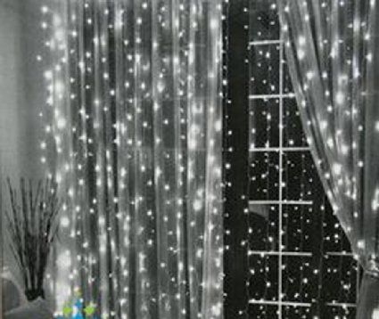 White Lights Against Sheer Black Curtains Google Search Led