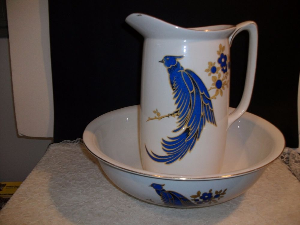 Antique Wash Bowl and Pitcher
