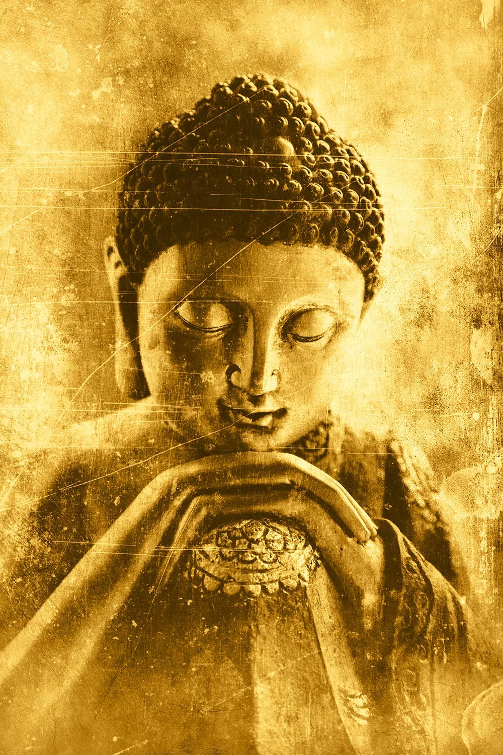 Order Contemplative Buddha Wallpaper to create fantastic wall decor ...
