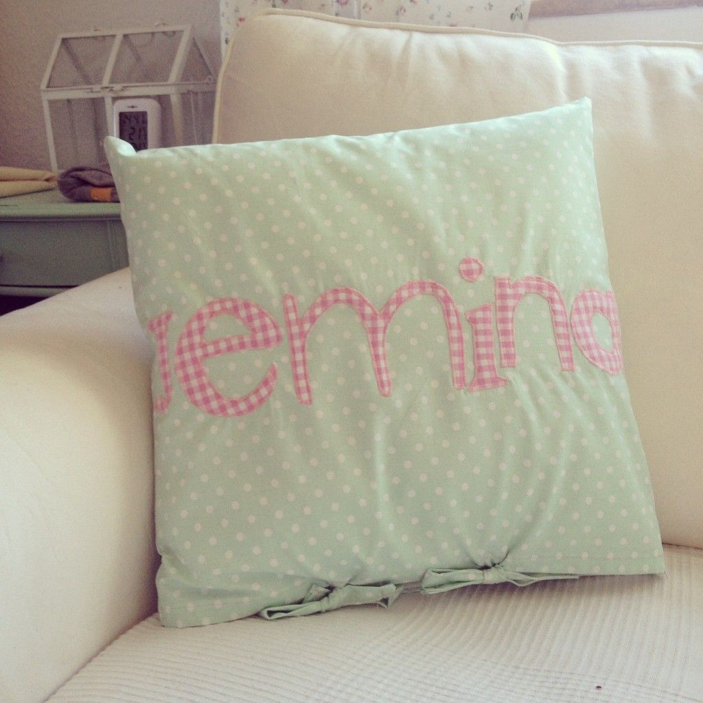 Name Pillow. Front Name B, back Strewberry