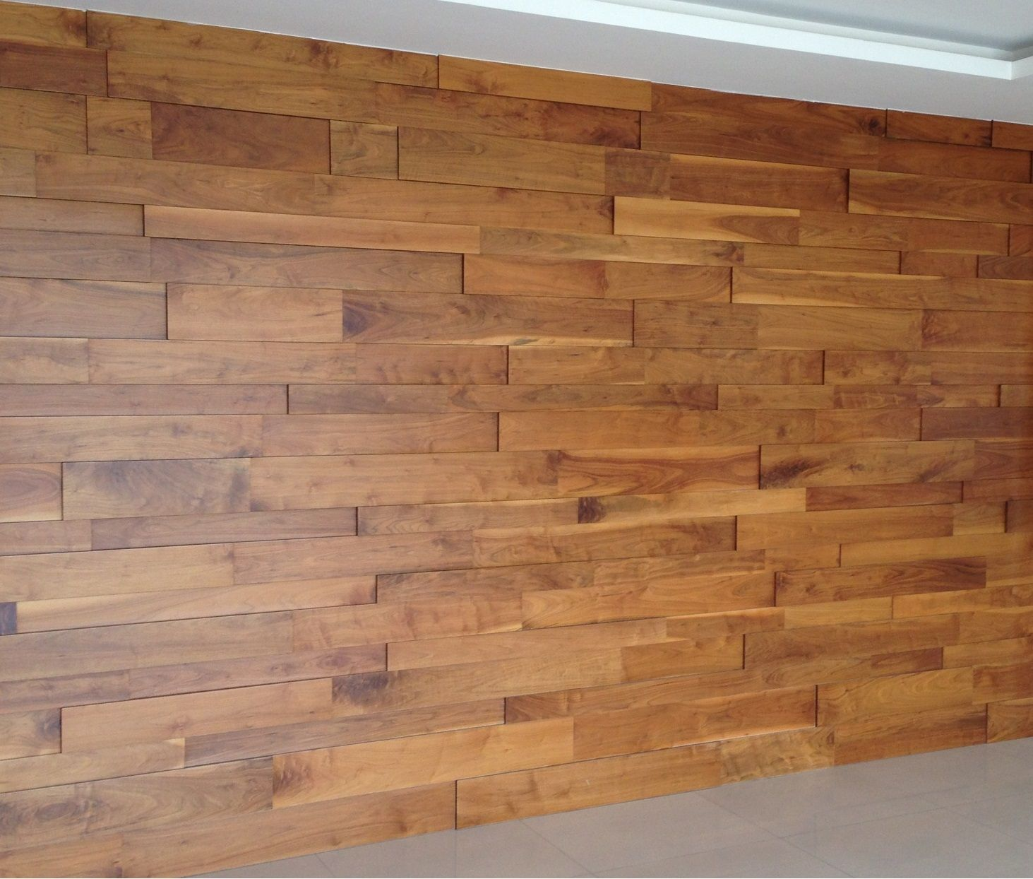 Wooden Wall Covering Here Is A Followup To My Post A Few Weeks Ago About Wood Wall .