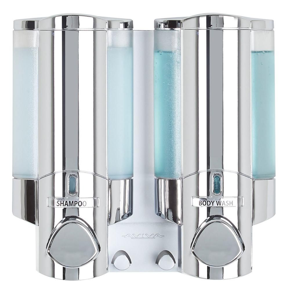Better Living Aviva Soap Dispenser In Chrome 76245 1 The Home Depot In 2020 Shower Soap Dispenser Shampoo Dispenser Soap Dispenser