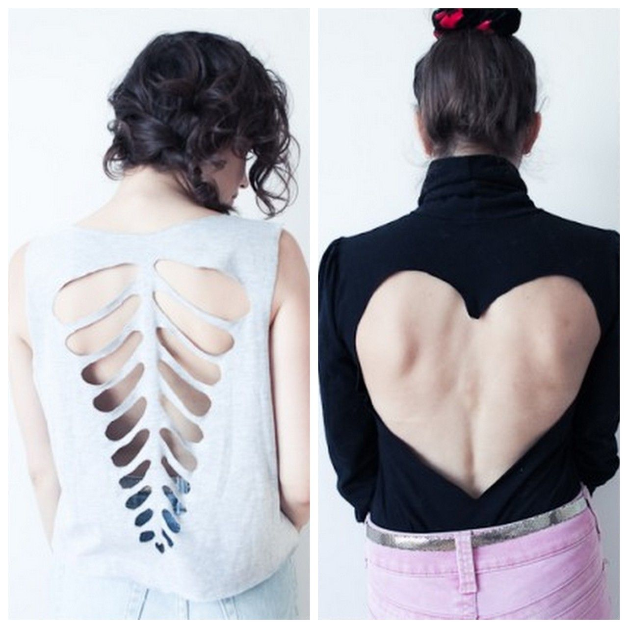 DIY For Tee Shirts | Diy Ribcage And Heart Cut Out Tee Shirt Templates  Templates Can