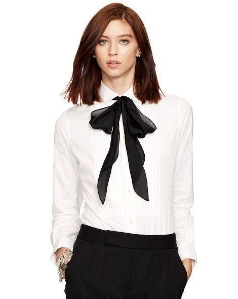 Cotton Poplin Tuxedo Shirt - Polo Ralph Lauren Shop All Under $100 - RalphLauren.com