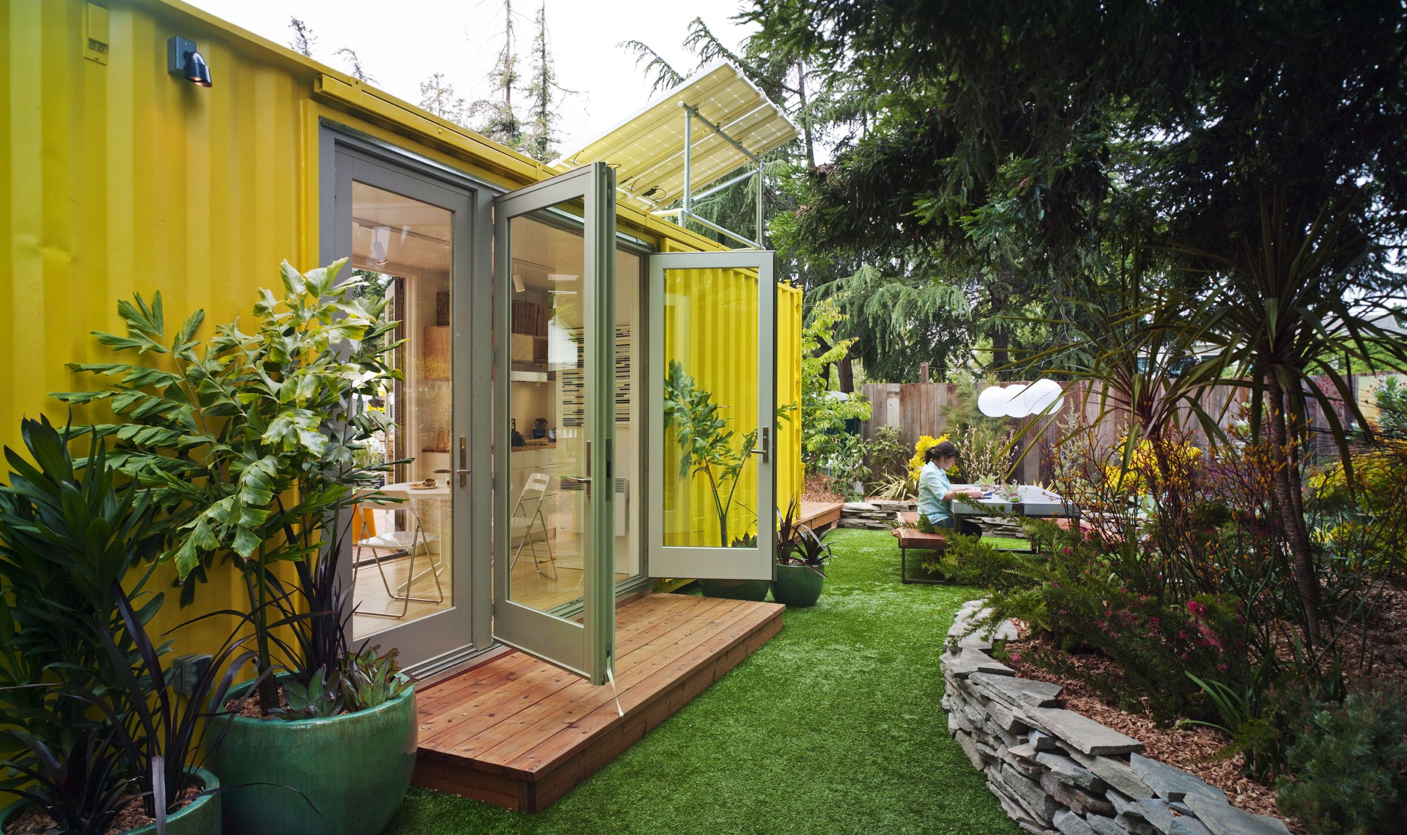 Cargo container homes on pinterest container houses - The Tiny Tiny Cabin Home Sweet Shipping Container Westphoria