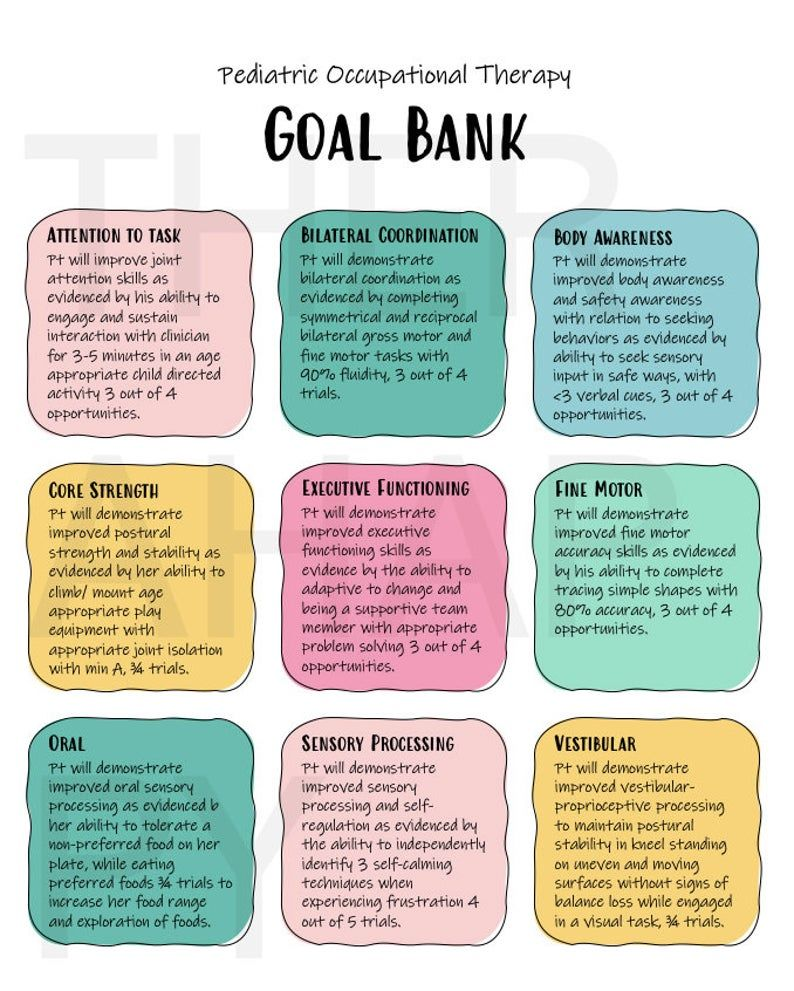 Goal Writing for Pediatric Occupational Therapists Tips OT ...