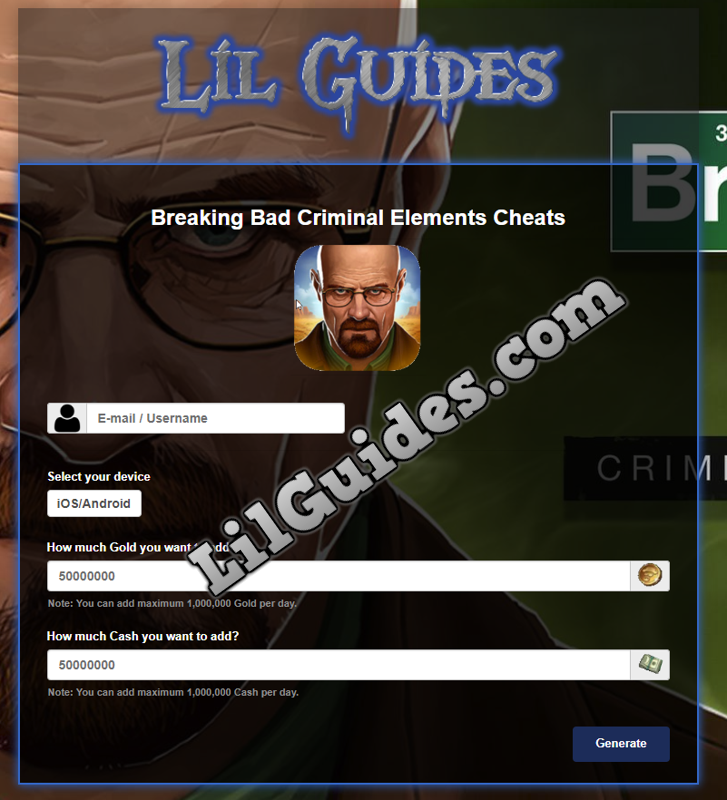 Breaking Bad Criminal Elements Cheats Free Gold Lil Guides Breaking Bad Cheating Criminal