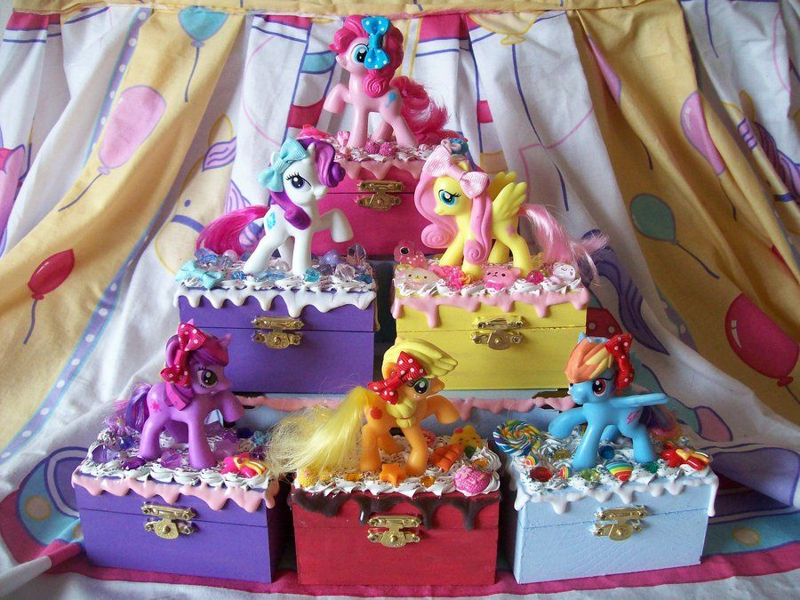 My Little Pony Jewelry Box Cool My Little Pony Fim Trinket Boxeslessthan3Chrissydeviantart Design Decoration