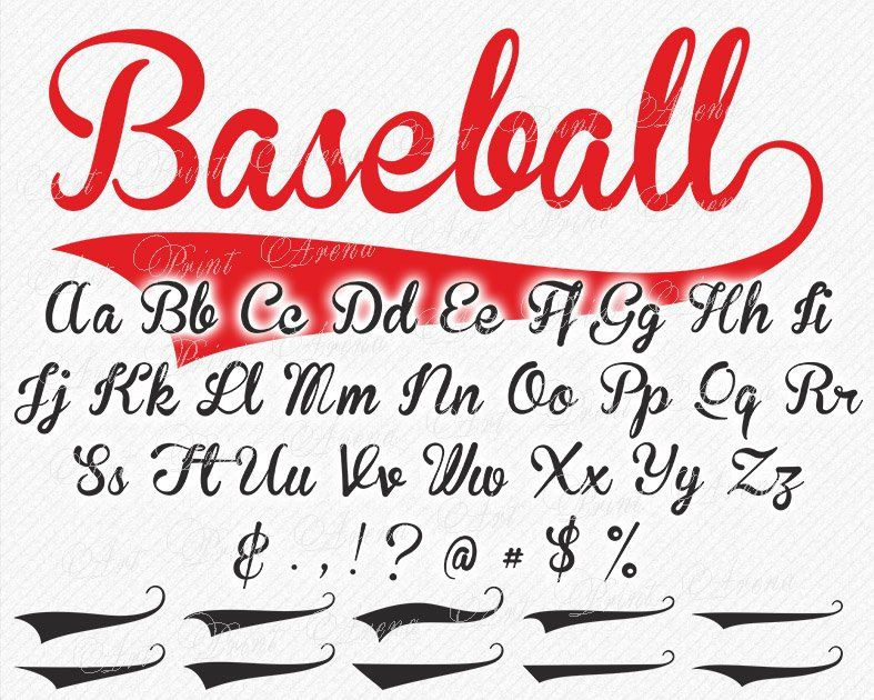 Baseball Font Svg Svg Fonts Baseball Svg Font Sport Etsy Baseball Font Baseball Fonts Free Lettering