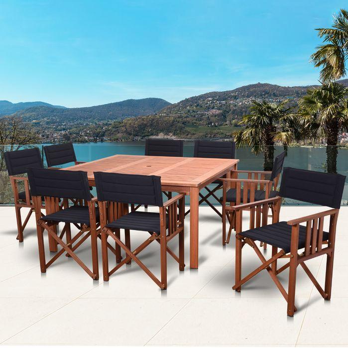 Amazonia San Antonio Patio 9 Piece Dining Set  Home Inspiration Beauteous Dining Room Chairs San Antonio Design Decoration