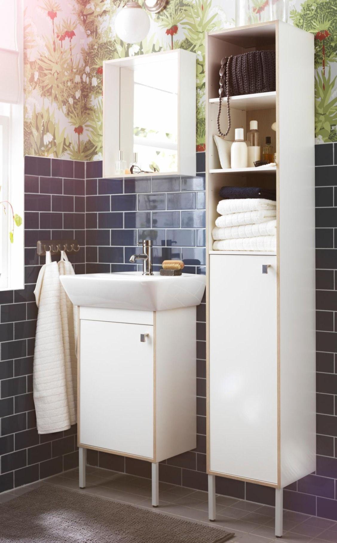 IKEA TYNGEN bathroom furniture pulls double duty to make