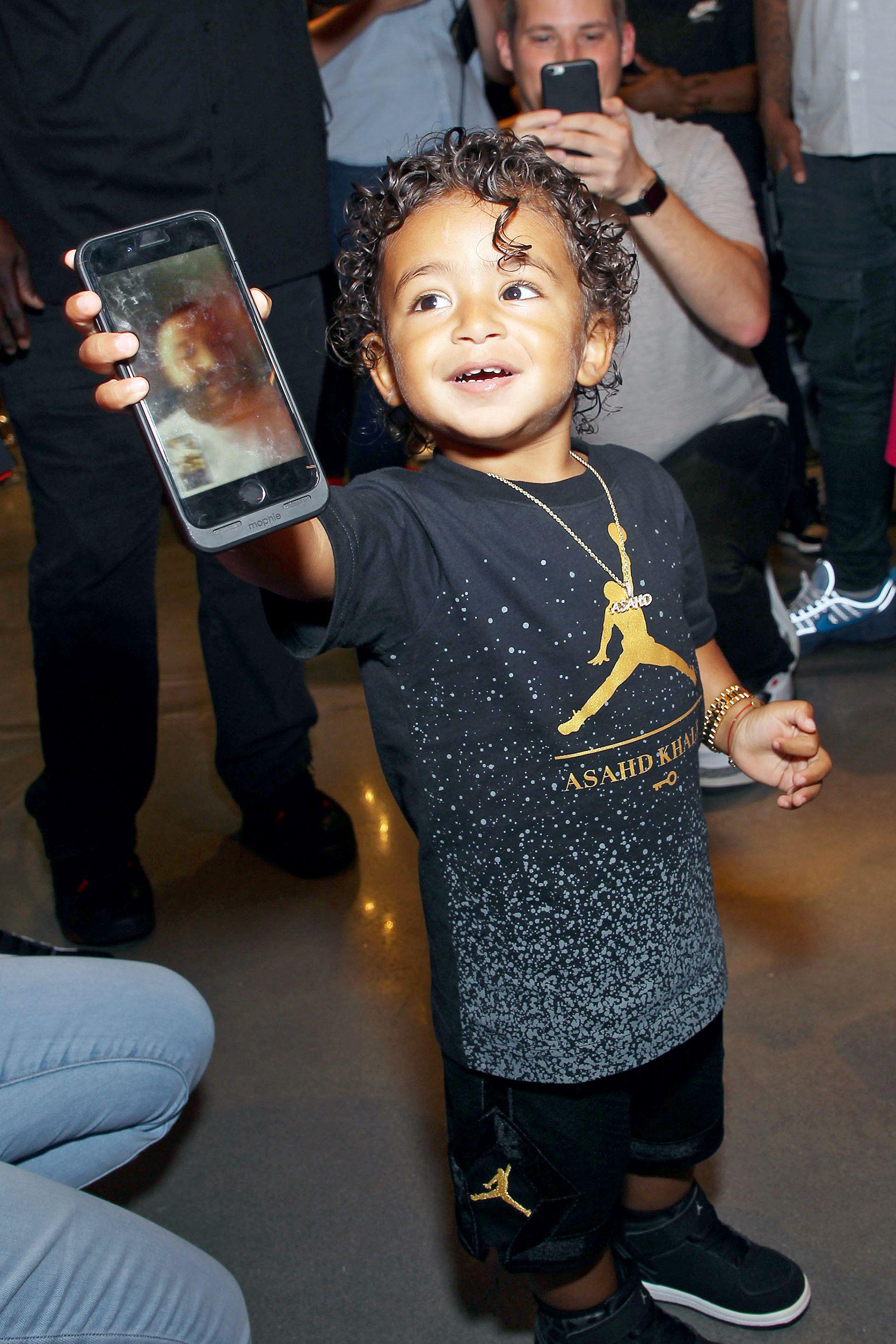 6c98bec5544 DJ Khaled's 1-year-old son, Asahd, rocks a diamond Rolex while promoting his  new Jordan x Asahd collection.