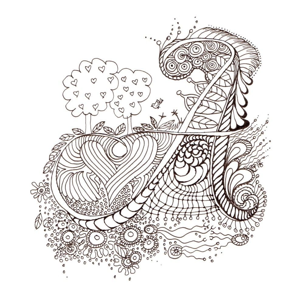 Pin By Liz Silvio On A Illuminated Letters Initials Doodle Art Letters