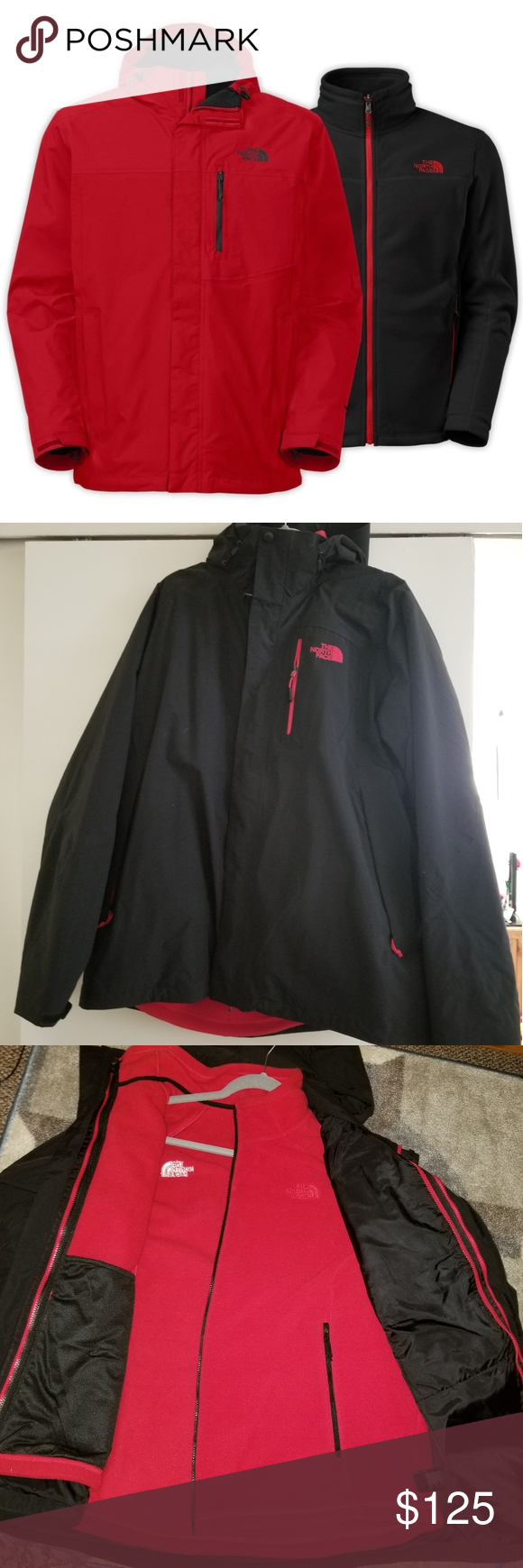 North Face 2 In 1 Multi Climate Men S Jacket North Face Brand Black North Face Jackets [ 1740 x 580 Pixel ]