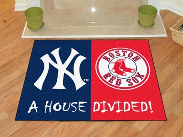 Fanmats Mlb New York Yankees Boston Red Sox House Divided Rugs 34x45