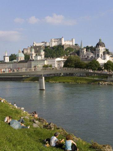 River Salzach,, Salzburg, Austria